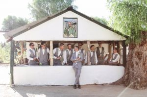 Groomsmen at the Adobe